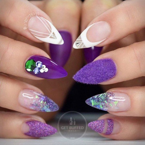 50 Almond Nail Designs Nail Art Brushes Fan Brush And Manicure