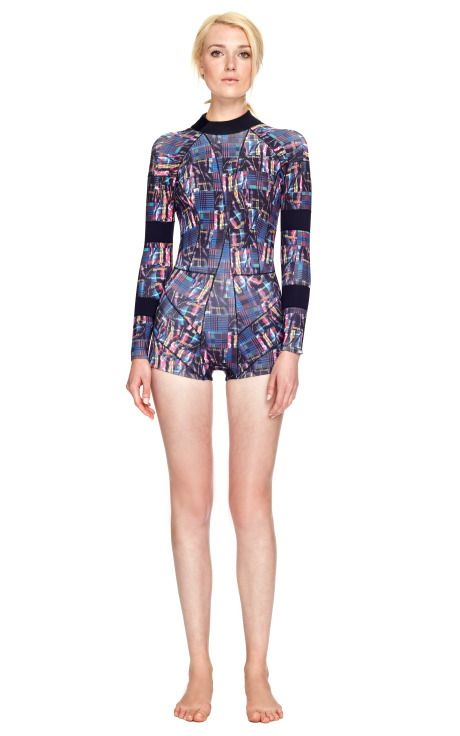Madras Printed Wetsuit by  for Preorder on Moda Operandi