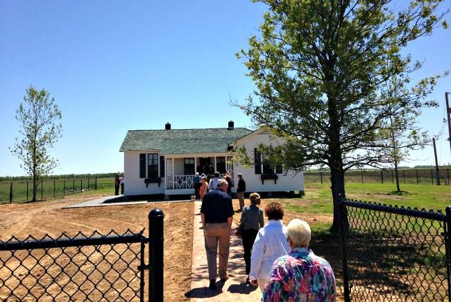 Johnny Cash's boyhood home in Dyess Colony, Arkansas