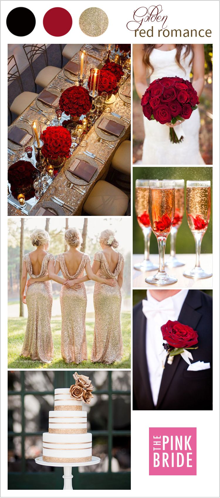 Wedding Color Board: Golden Red Romance | Classic weddings, Gold ...