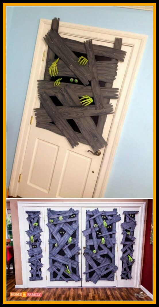 83 reference of halloween door decorations diy