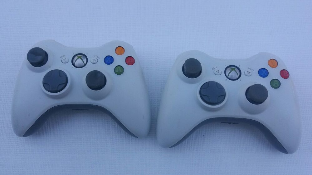 Official OEM Genuine Microsoft Xbox 360 Wireless Controller White 2