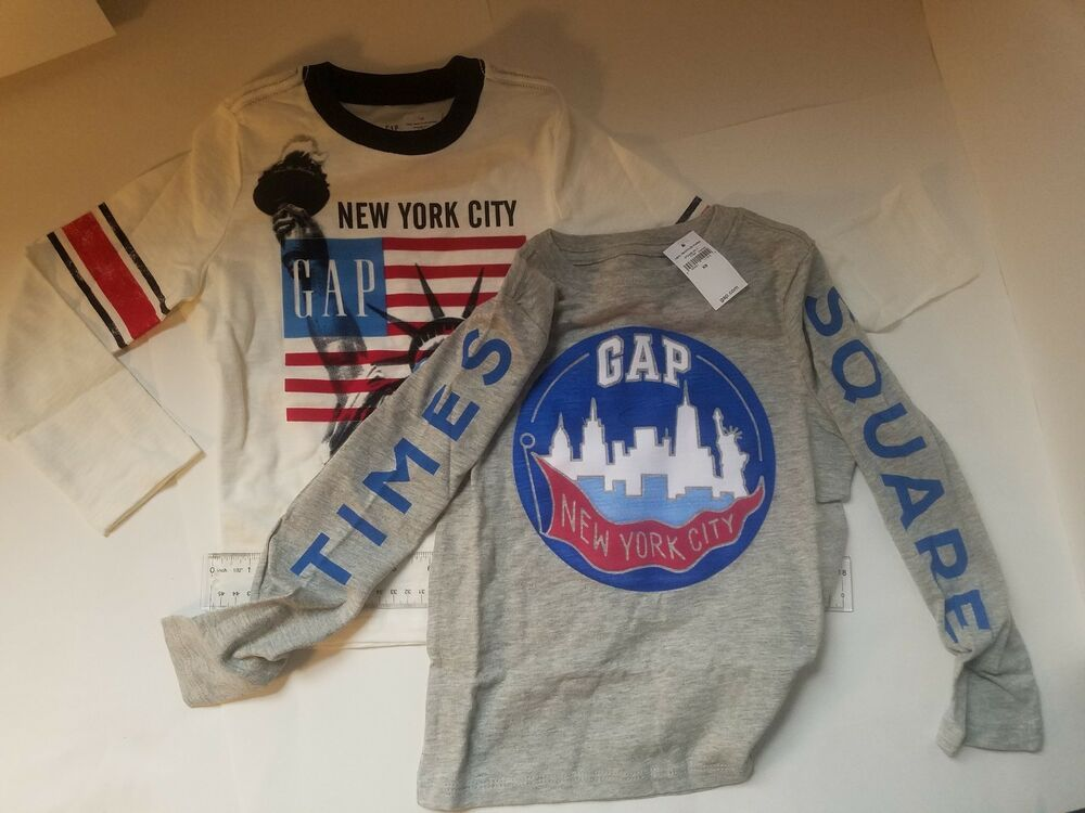 GapKids Boys Graphic Tee Gap  Long Sleeve T Shirt Top NWT
