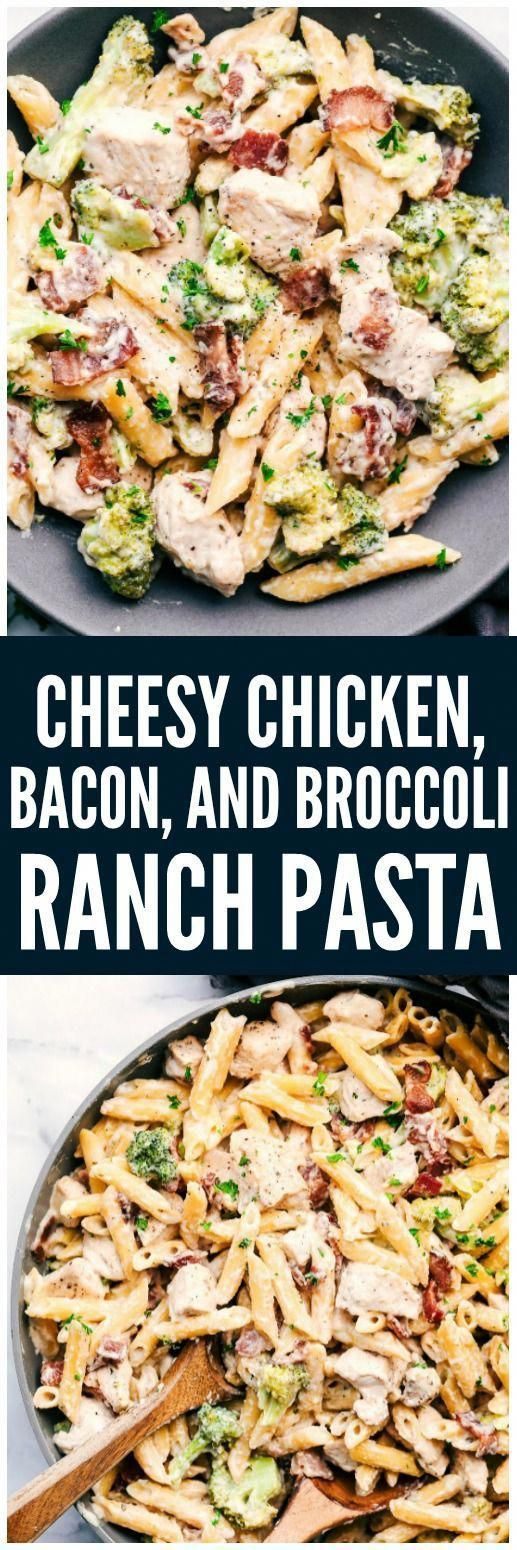 Cheesy Chicken, Bacon and Broccoli Ranch Pastais a meal in one that is made in one pan and has such amazing creamy ranch flavor! This meal will be a hit with the entire family!