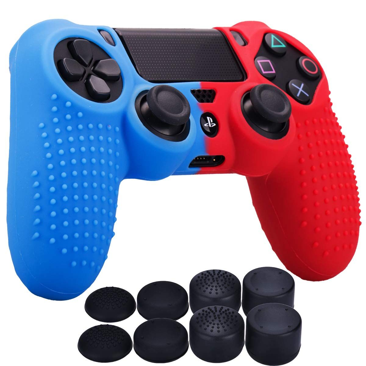 Yorha Studded Dots Silicone Rubber Gel Customizing Cover For Sony Ps4 Slim Pro Dualshock 4 Controller X 1 Red Dualshock Ps4 Slim Silicone Rubber