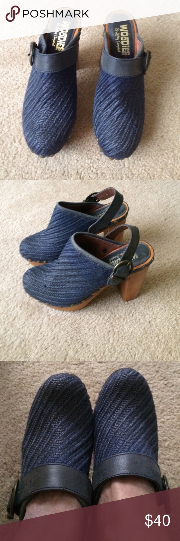 Jeffery Campbell woodies Make me an offer! These clogs are super cute. They have some wear but truly not much. They look fantastic with cropped jeans or skirts. Super cute. Jeffrey Campbell Shoes Mules & Clogs