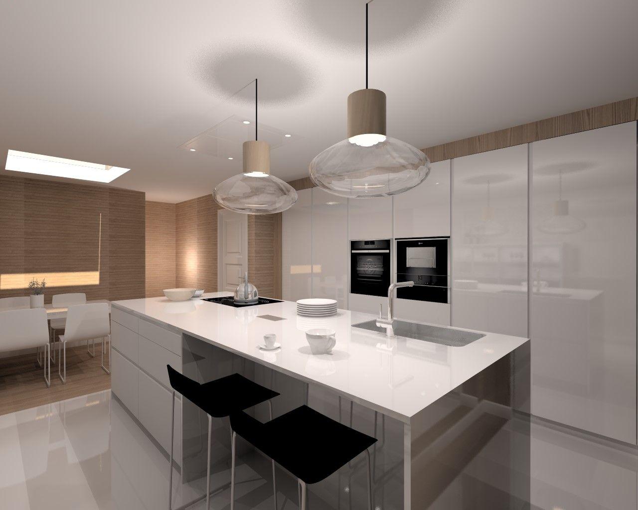 Aravaca cocina santos modelo line laminado blanco - Docrys cocinas ...