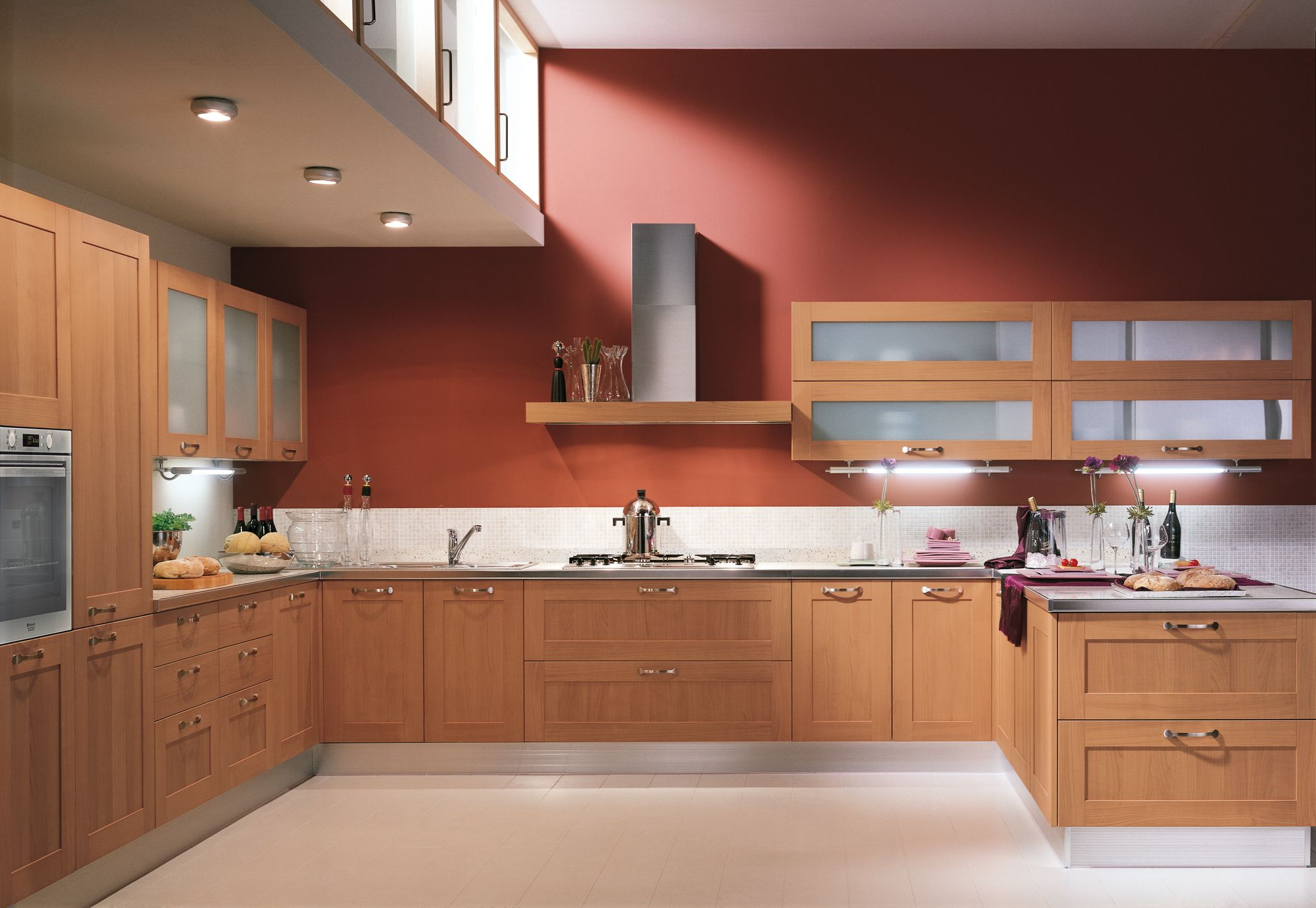 life by #scavolini | door with frame-panel in bellagio cherry, Hause ideen