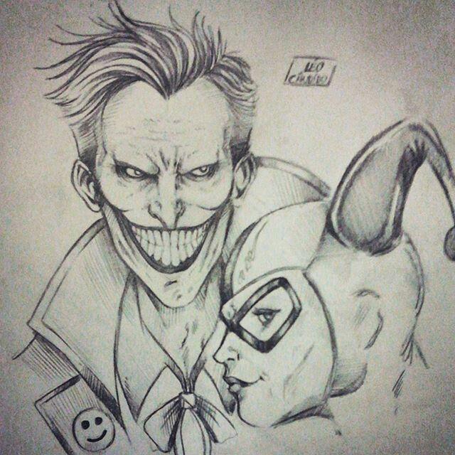 Pin By Johana Comulada On Harley And Joker Joker Drawings