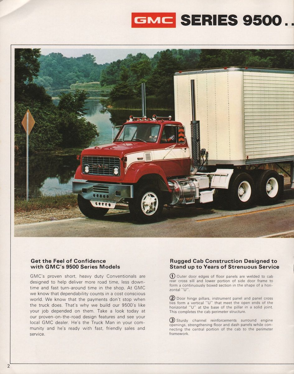 1974 9500 Conventional Cab Gmc Sales Brochure Model Truck Kits Gmc Trucks Gmc