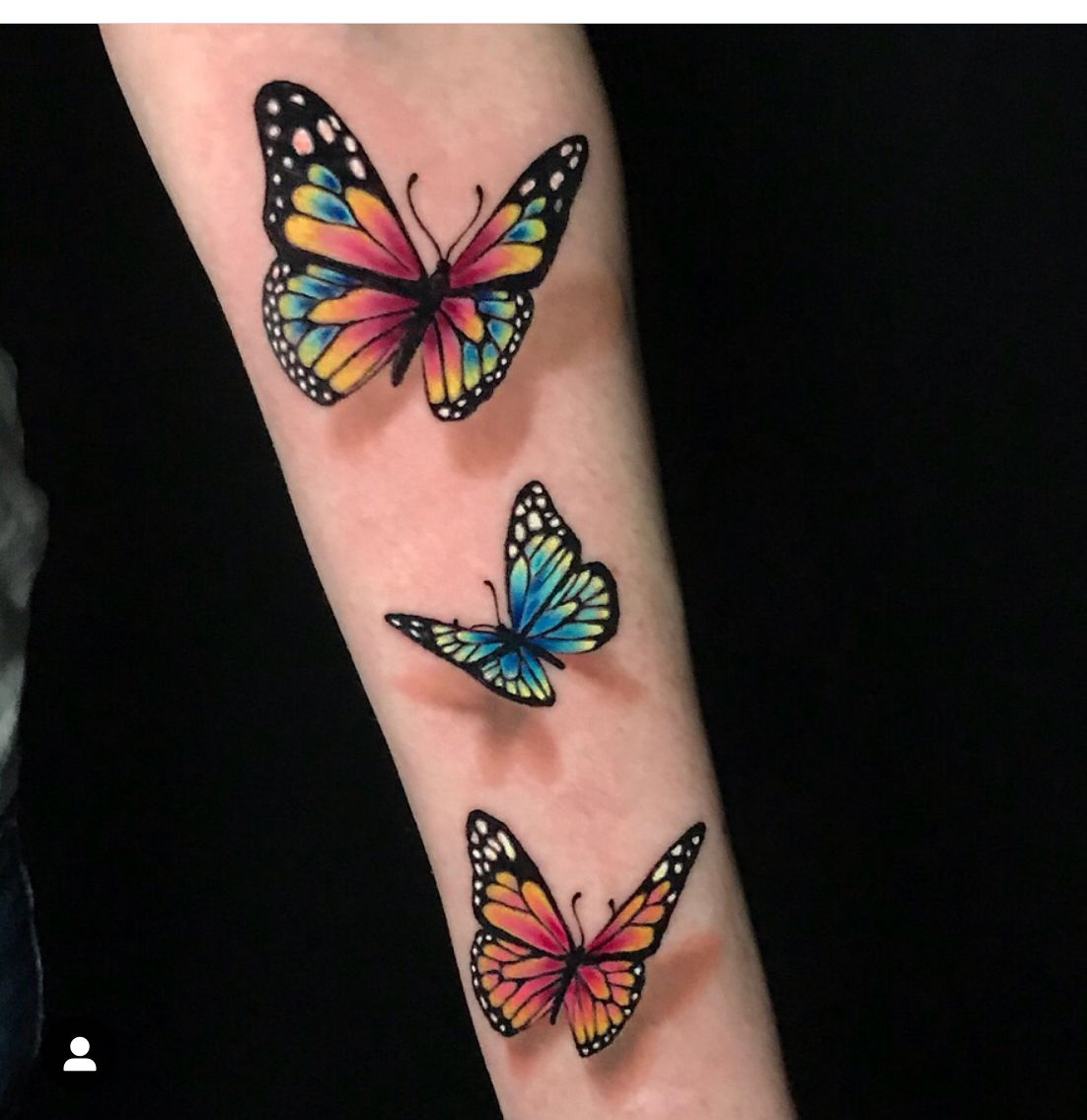 Butterfly 3d Tattoo Color With Images Butterfly Tattoos For