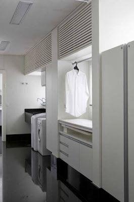 Um dia vou ter uma lavandaria assim :) Tudo em ordem sem bagunça