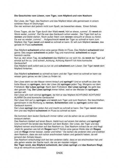 Inputgeschichte: Verben der Bewegung - Kindersprache, SES | Verben ...