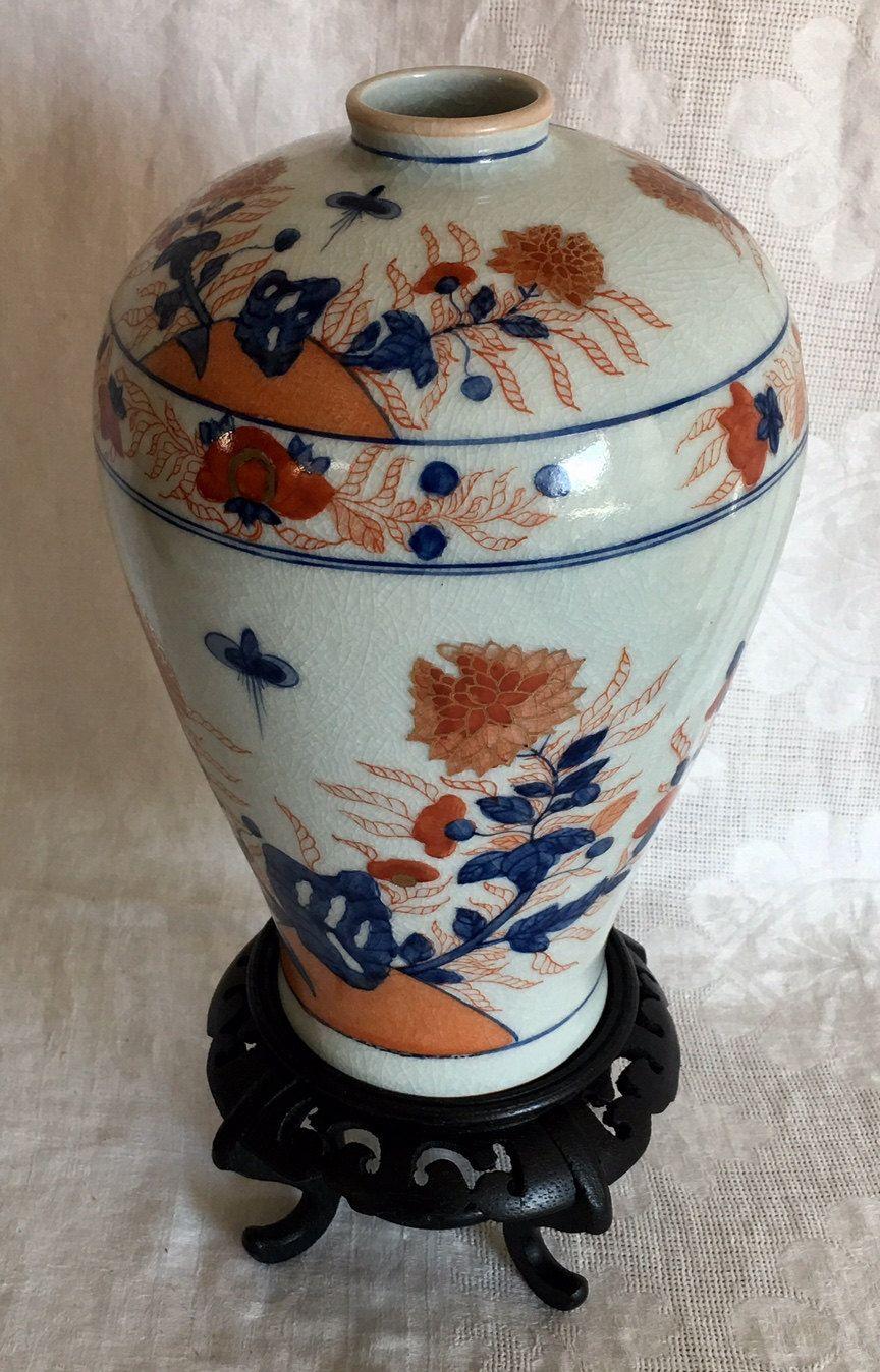 Oriental vintage japanese hand painted poroelain vase signed oriental vintage japanese hand painted poroelain vase signed reviewsmspy