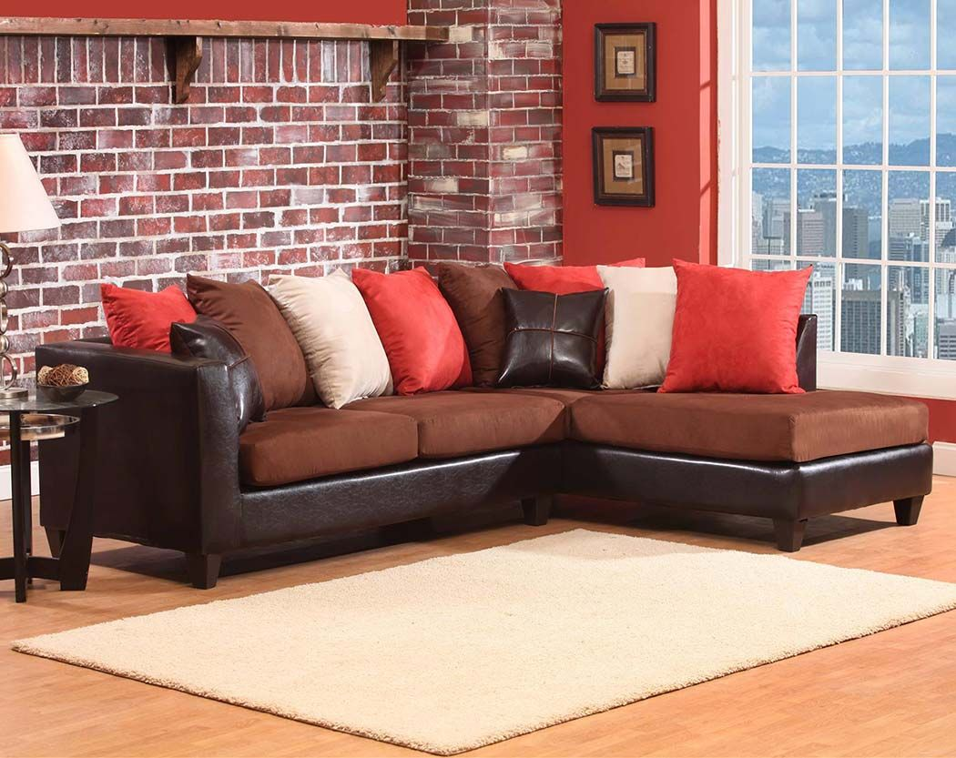 Awesome Sierra Chocolate 2 Pc Sectional Sofa Living Room Set Ocoug Best Dining Table And Chair Ideas Images Ocougorg