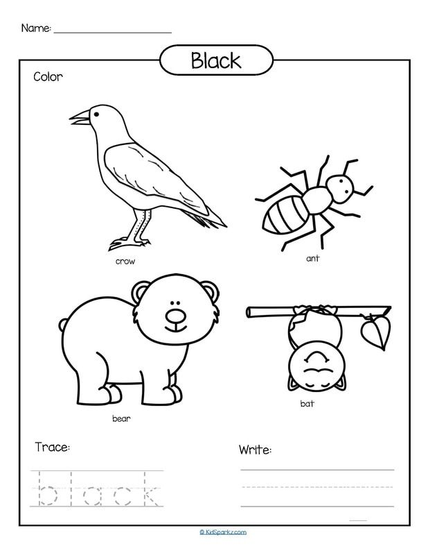 letter d coloring pages preschool black | Color black printable - color, trace and write. | Color ...