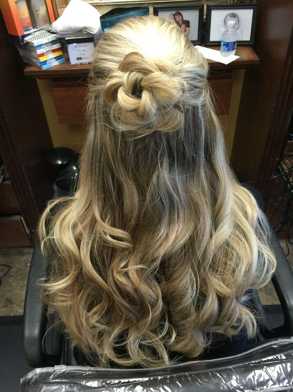 easy long hair up do  hair up hairstyles hair updos