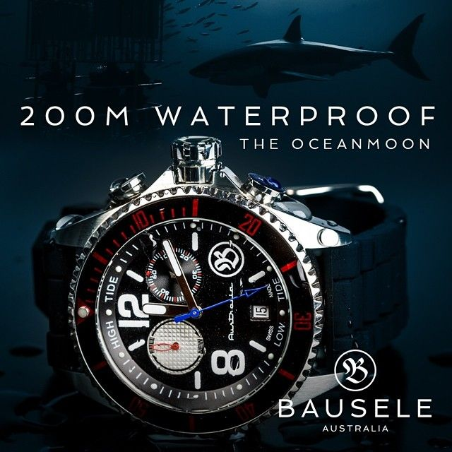 womw:  The OceanMoon in its natural element! 200M waterproof to explore the beautiful coasts surrounding our beautiful country. Available on www.bausele.com.au by bausele from Instagram http://ift.tt/1o2oSnP