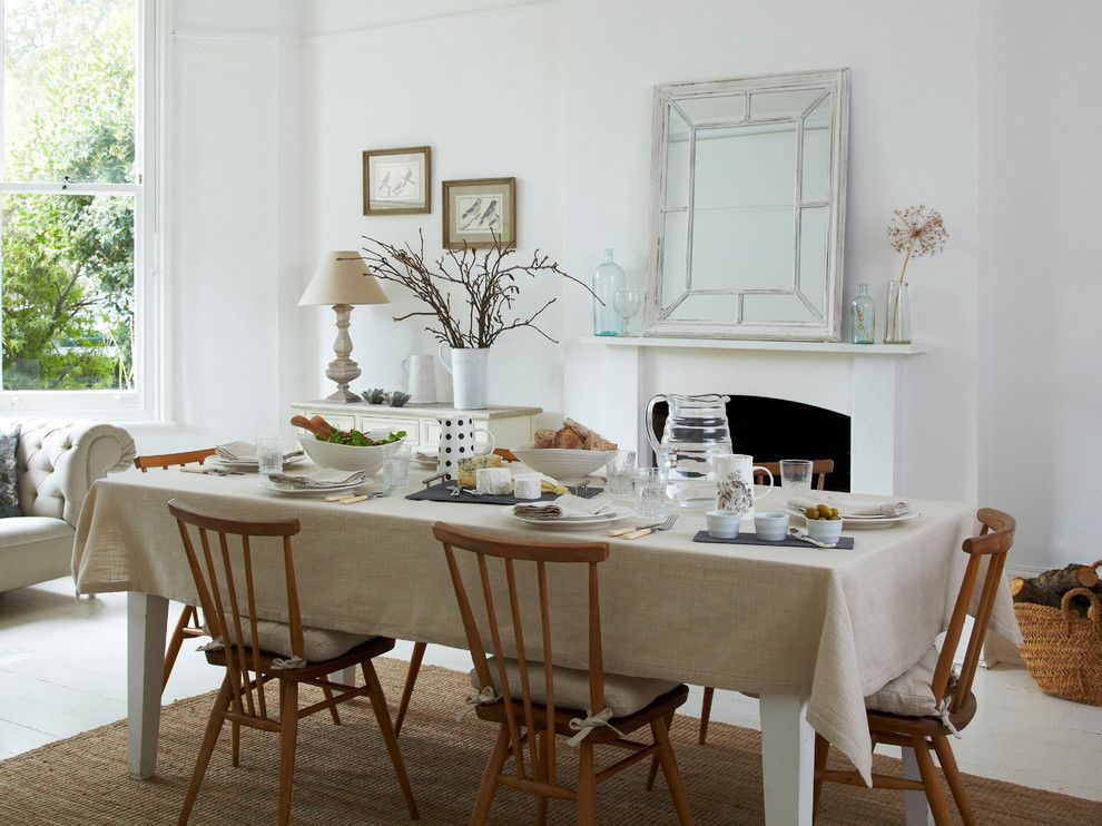 Mission Style Coffee Table in Scandinavian Dining Room with Beige ...