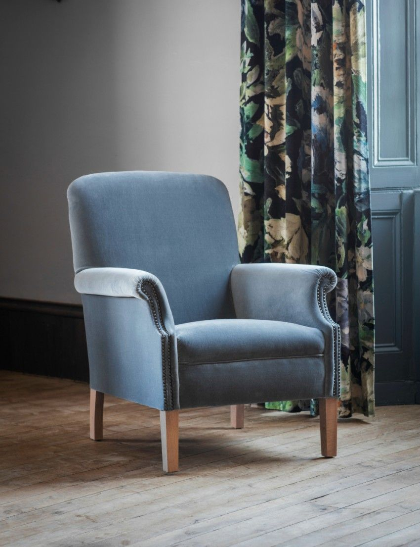 Velvet Occasional Chair From Rose Grey Occasional Chairs