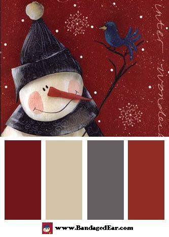 Christmas Picture Color Schemes.Christmas Color Palette Winter Wonderland Art Print By