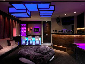 HousePrivate Lounge modern home theater   Philips Hue Lighting Ideas  . Lounge Lighting. Home Design Ideas