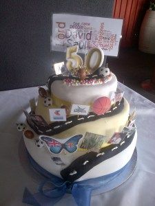 My husbands 50 th Birthday Cake 3 layers of cake see the recipe on