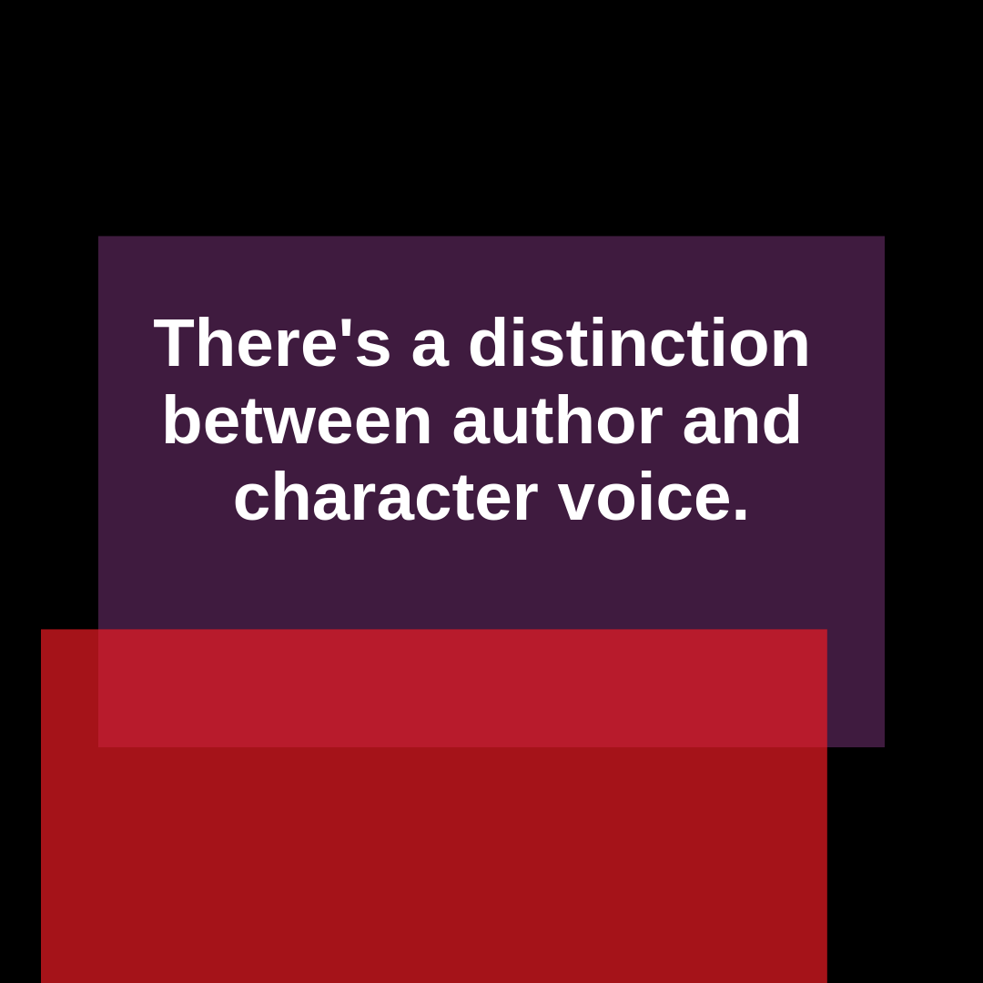 Blog For Writ On Protagonist Tips: There's A Difference Between Character Voice, And Your