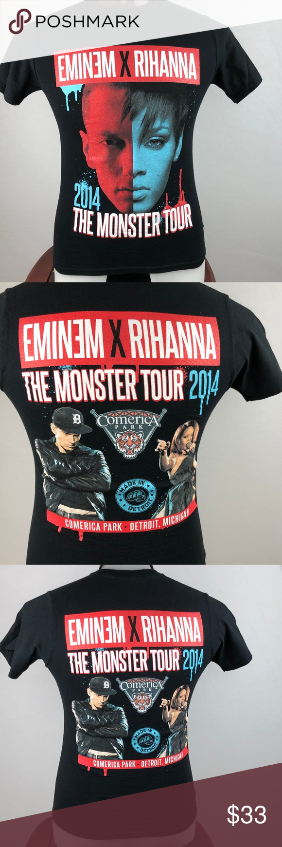 Eminem X Rihanna The Monster Tour 2014 S T Shirt Eminem