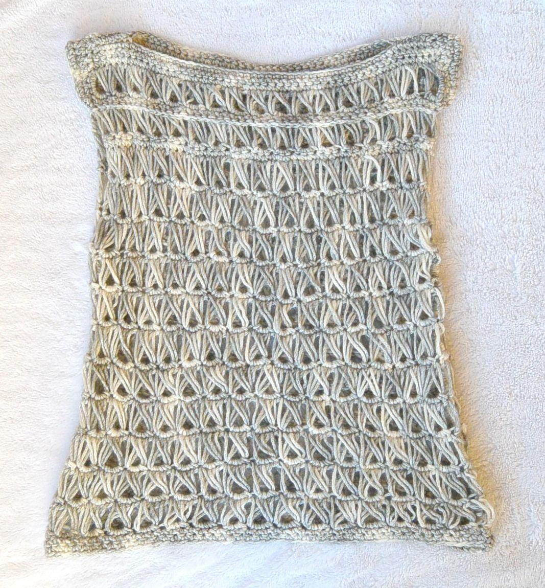 Broomstick Lace Crochet Top | Crochet summer tops, Crochet summer ...