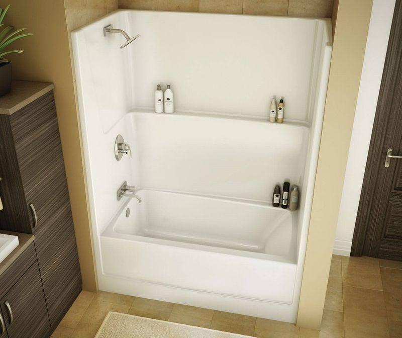 TSEA Plus Maax Shower tub, Tub and shower faucets
