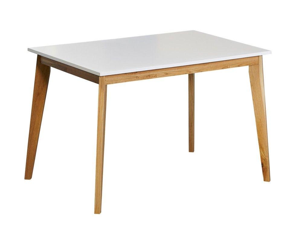 Designer Esszimmermöbel esszimmertisch retro 77x117 weiß furniture and retro