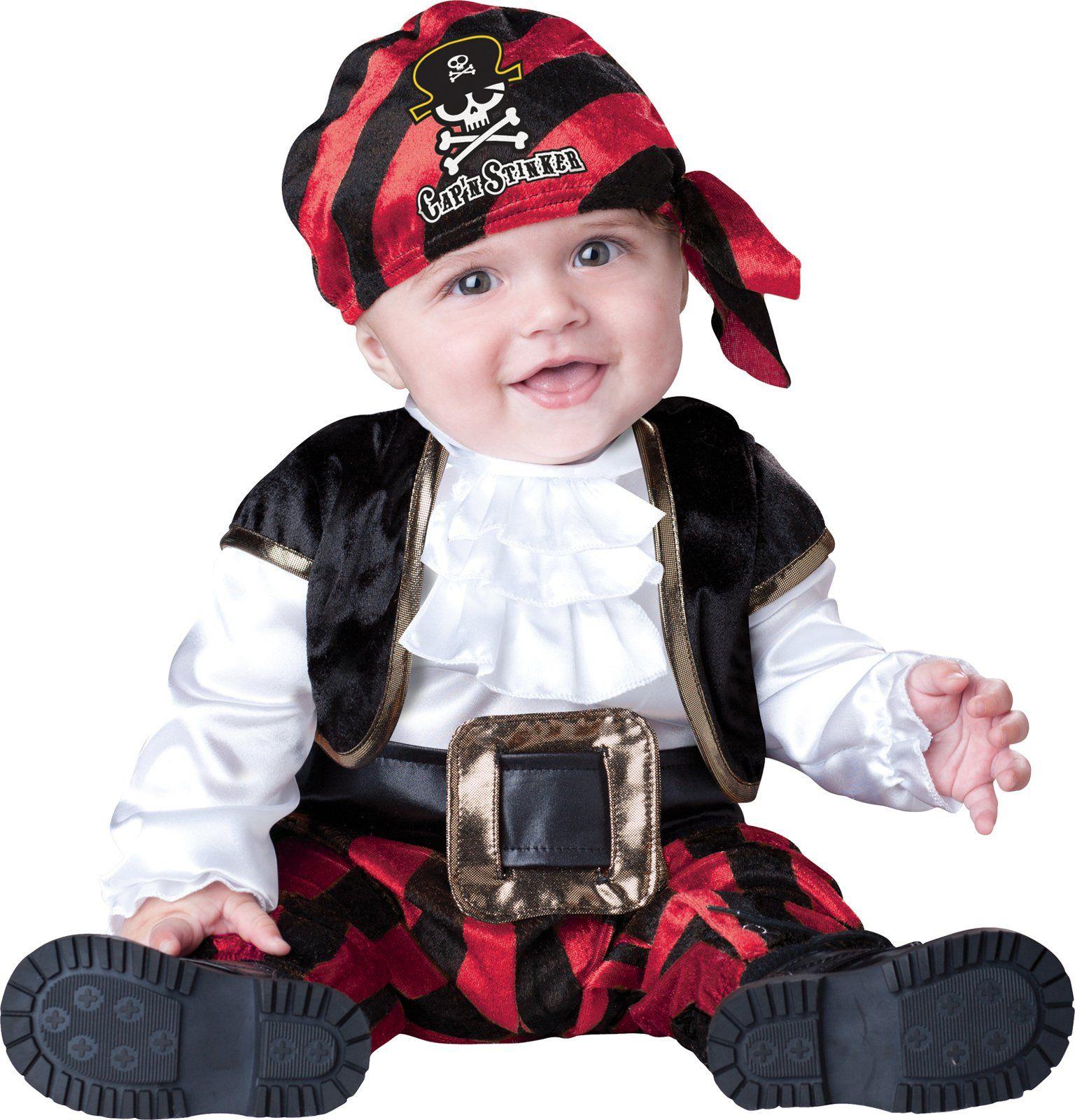 Cap n Stinker Pirate Infant Toddler Costume