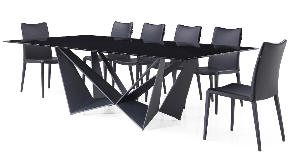 Serra 94 Smoked Glass Dining Table Contemporary House