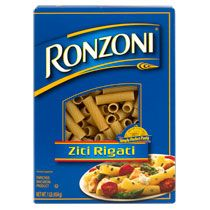 Ronzoni Ziti Rigati Pasta, 16-oz. Boxes