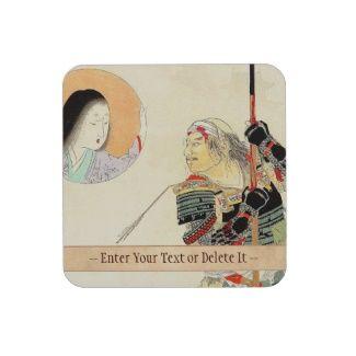 Tomioka Eisen Samurai Warrior Classic japanese art Beverage Coaster #Eisen #wounded #Samurai #Warrior #Classic #japanese #art  #customizable #gifts  #accessories #Japan #kenshi #bushi #geisha #spirit #custom #name #general #fighter #courage