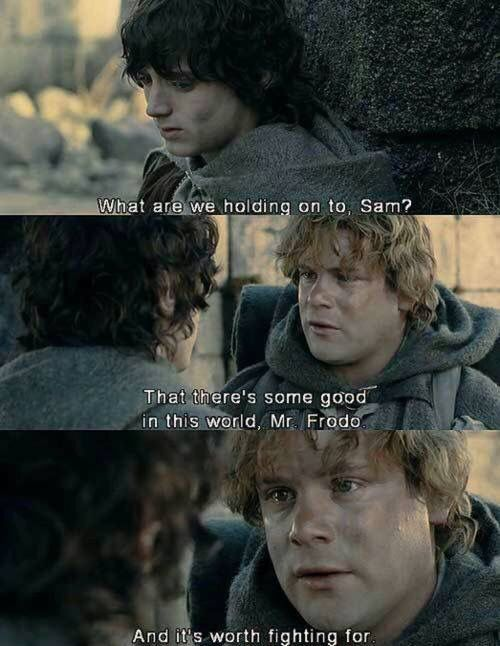 What Are We Holding On To Sam Lotr Lord Of The Rings The Hobbit Samwise Gamgee