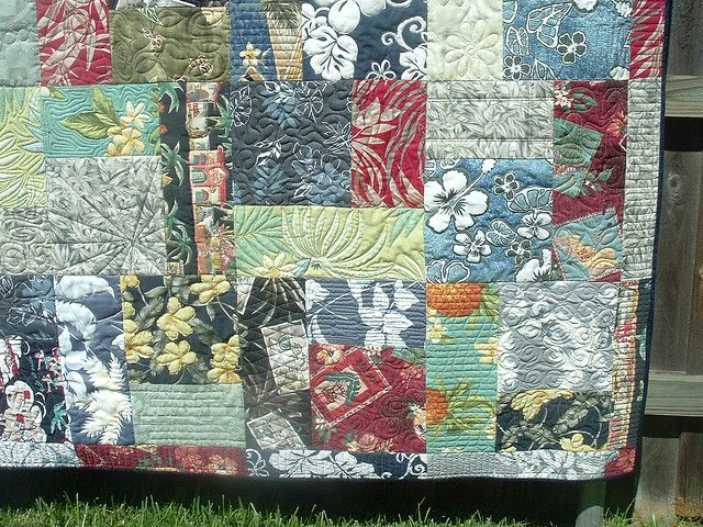 HAWAIIAN SHIRT QUILT - Custom Quilt for Jason Gleaton by DLQ ... : hawaiian shirt quilt pattern - Adamdwight.com