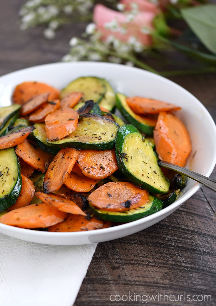 These Sauteed Zucchini and Carrots are super easy to prepare, and make the perfect side dish along side seafood, steaks, and chicken. #whole30 #paleo #zucchini #carrots #eatyourveggies