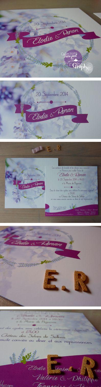 Faire-part mariage provençale #princessgraph #infographiste #faire-part #mariage #provençale