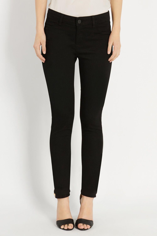 Jade Stretch Skinny Black Jeans | Black | Oasis Stores