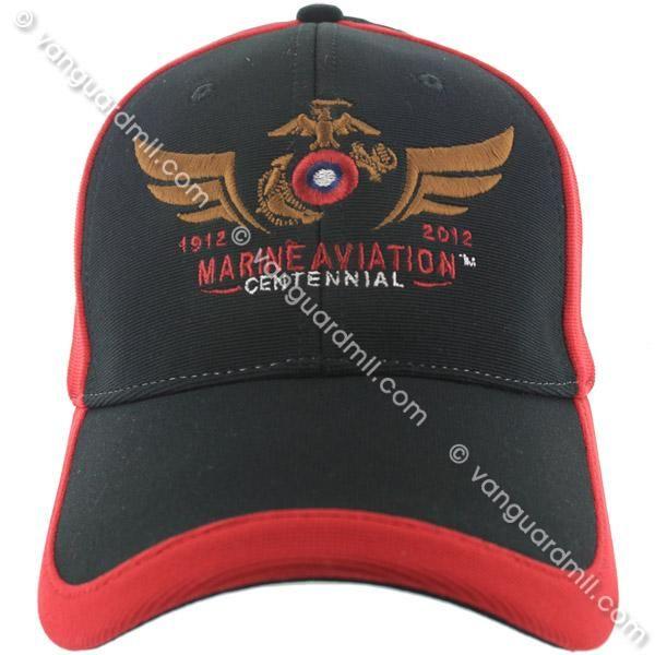 b3b0e89d9d7 Marine Corps Performance Ball Cap  Marine Aviation Centennial-Black   Red