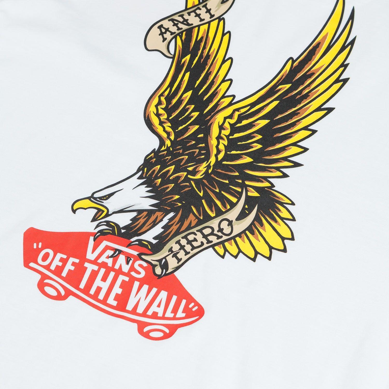 Vans X Anti Hero T Shirt White Flatspot Skateboarding