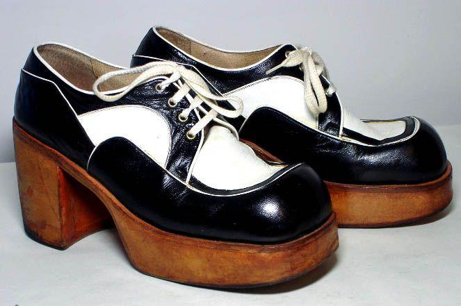 70s shoes, Disco shoes, Platform shoes