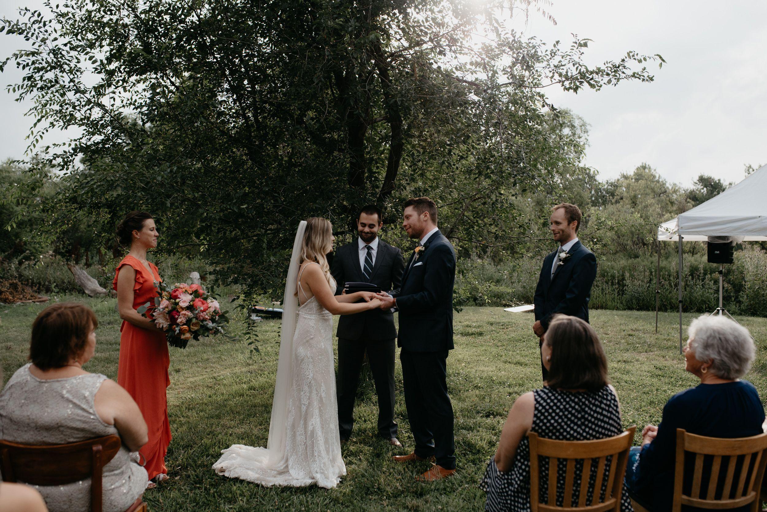 Three Leaf Farm intimate wedding in Boulder, Colorado