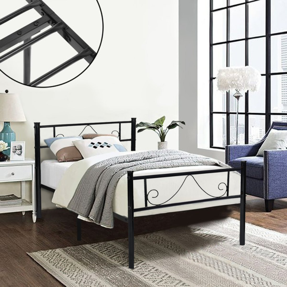 Amazon Com Greenforest Twin Bed Frame Metal Platform With Stable
