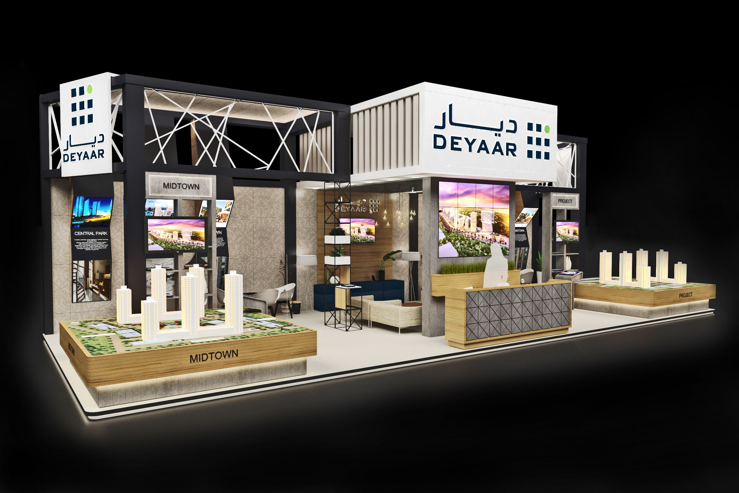 Property Exhibition Booth : Proposed design for deyaar at dubai property show mumbai booth