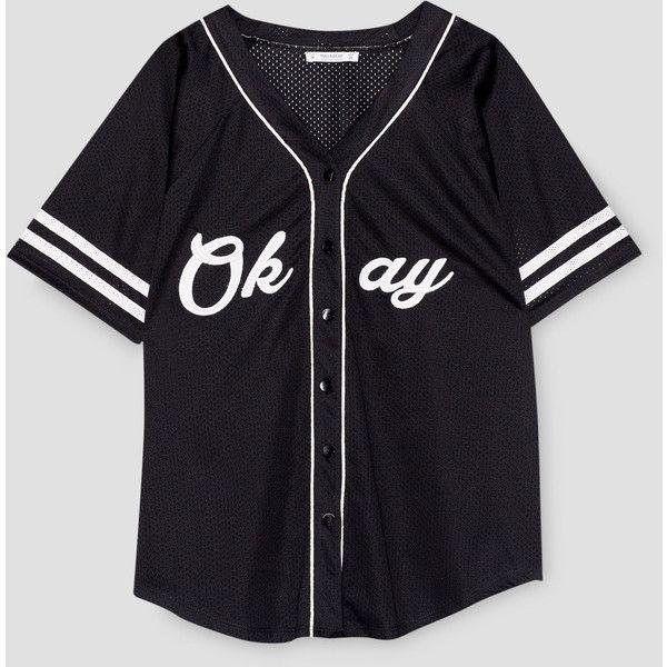 Short sleeve baseball jacket ($26) ❤ liked on Polyvore featuring ...
