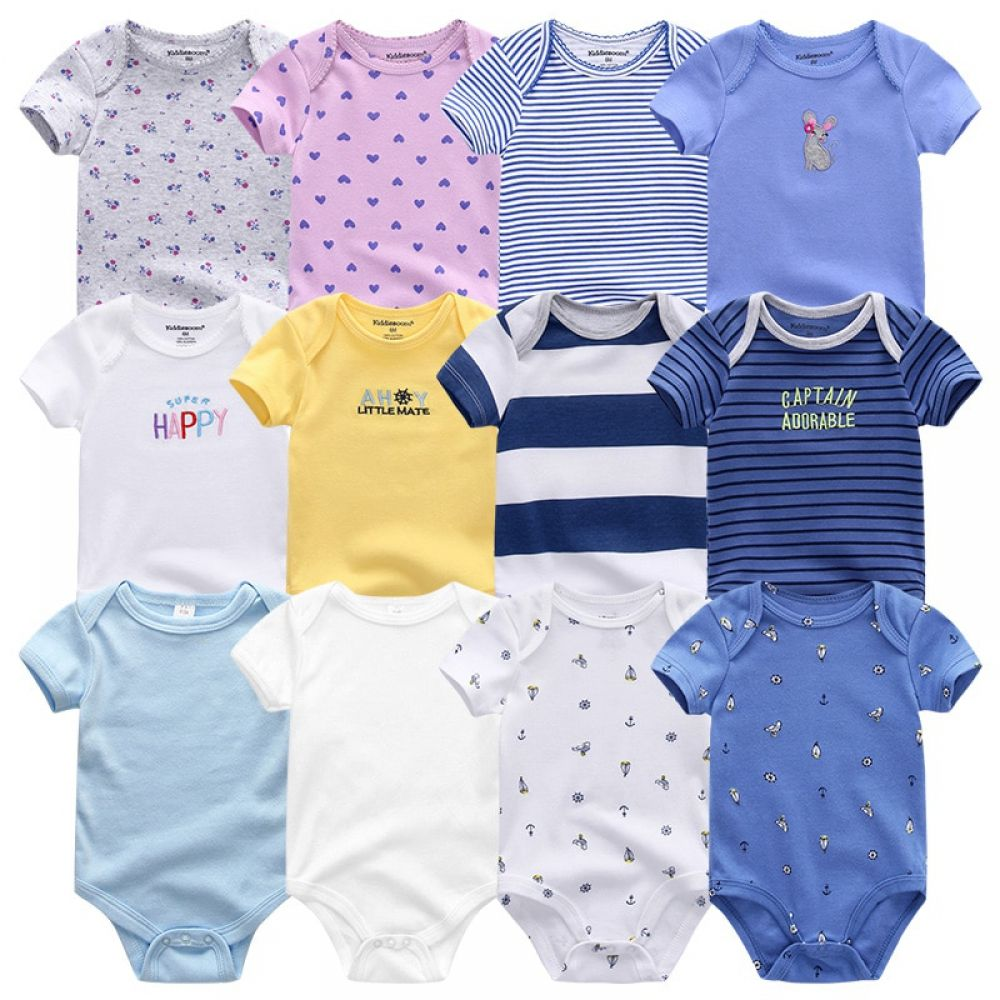 Baby Girl Boy Rompers Jumpsuit 7pcs Lot Clothes Cotton Baby Clothes Baby Clothes Sizes Baby Boy Outfits