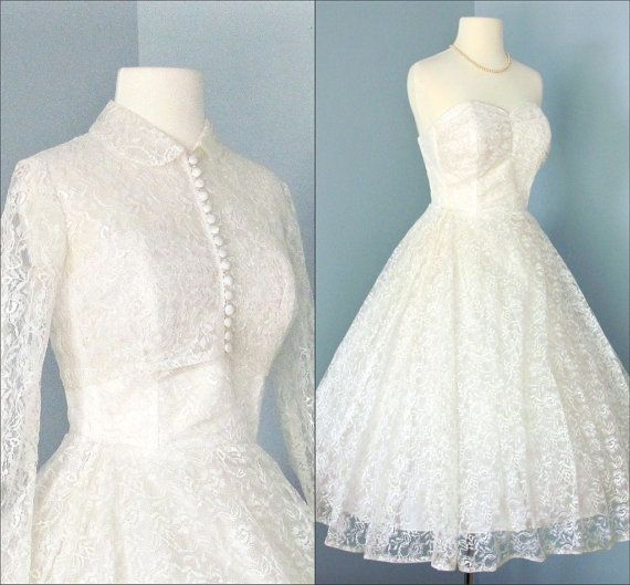 You can recycle a dress from another era. This feminine 1950s lace ...